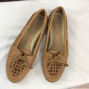 Sperry Top-Sider sz7.5 Audrey woven boat shoes
